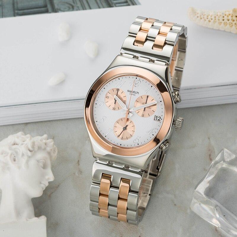 Swatch Watch Chrono Series Quartz Watch YCS595G swatch original colorful quartz watch suob135