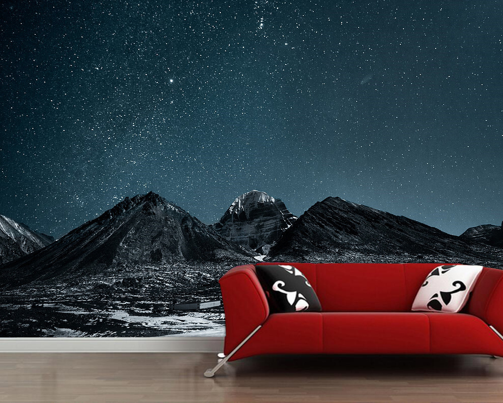 Papel De Parede Starry Night Sky Natural 3d Wallpaper Living Room