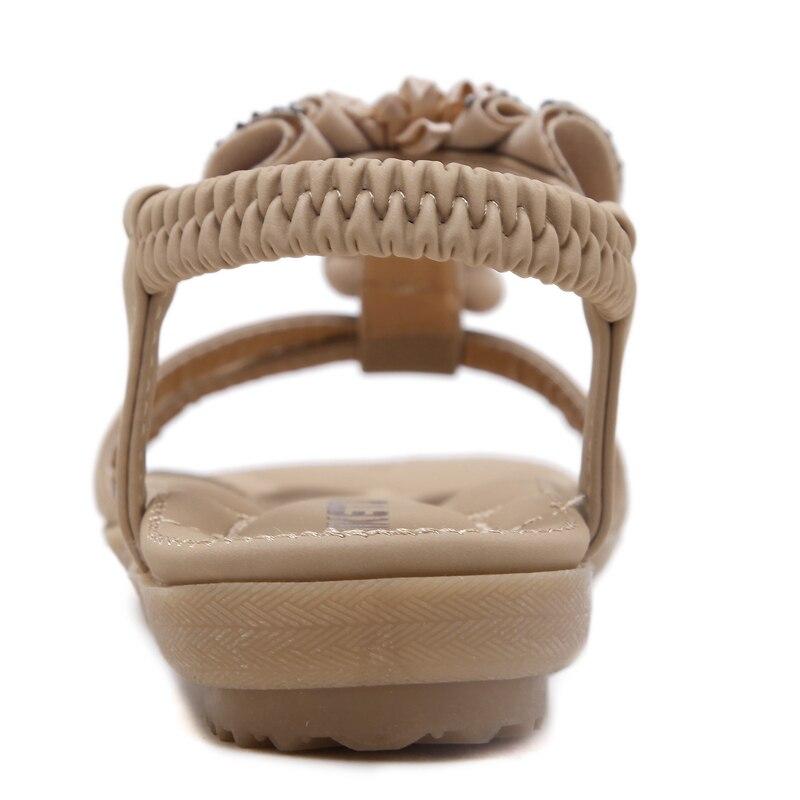 Yeni moda şirin albalı dekorasiya sandalları Bohem stili və - Qadın ayaqqabıları - Fotoqrafiya 4