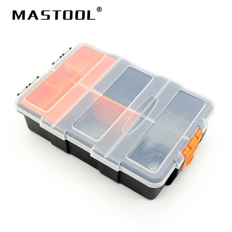 High Quality Big Capacity Multifunctional PP Toolbox Electronic Parts Plastic Box Removable Design Cells Screw Box