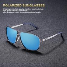 Óculos De Sol Dos Homens Polarizados FENCHI Quadrado Retro New Vintage  Driving Pesca Super Leve óculos de Sol Óculos Polaroid a8858db2c5