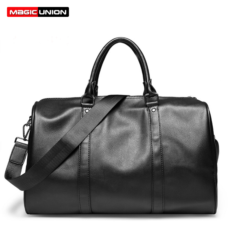 MAGIC UNION Brand PU Leather Handbags For Men Large-Capacity Portable Shoulder Bags Men's Fashion Travel Bags Package safebet brand high quality pu leather handbags for men large capacity portable shoulder bags men s fashion travel bags package