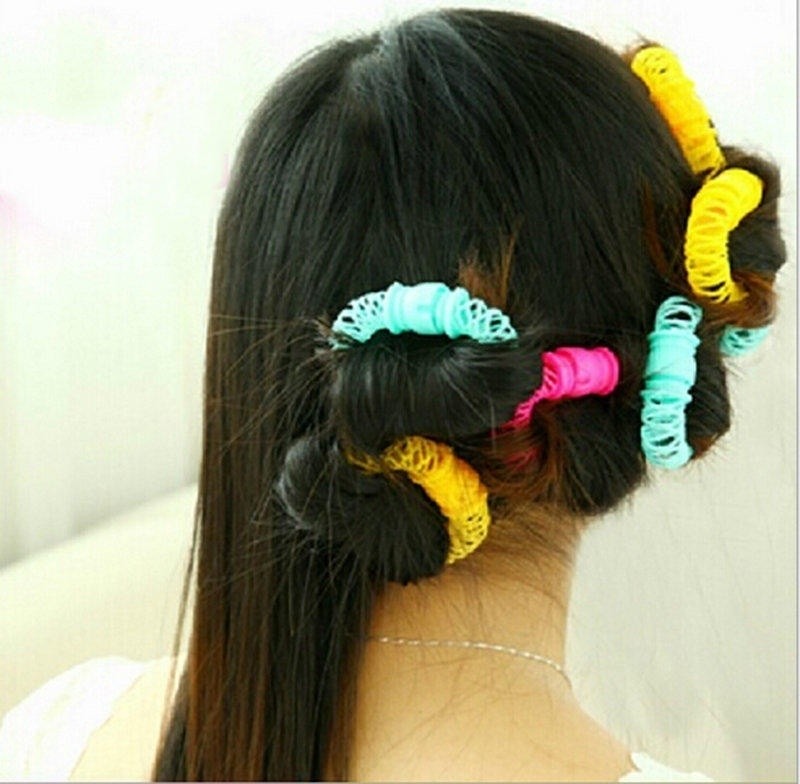 8pcspack Hair Curlers Soft Lady Plastic Hair Styling Roller