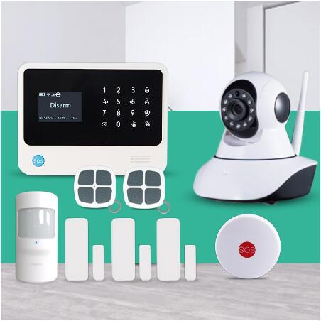 433mhz G90B Plus Wireless WiFi GSM GPRS SMS Home Alarm System APP control wireless ip cameras SOS emergency button alarm g90b plus 2 4g wifi gsm gprs sms intruder wireless home security alarm system hd 720p wifi ip camera wireless smoke detector