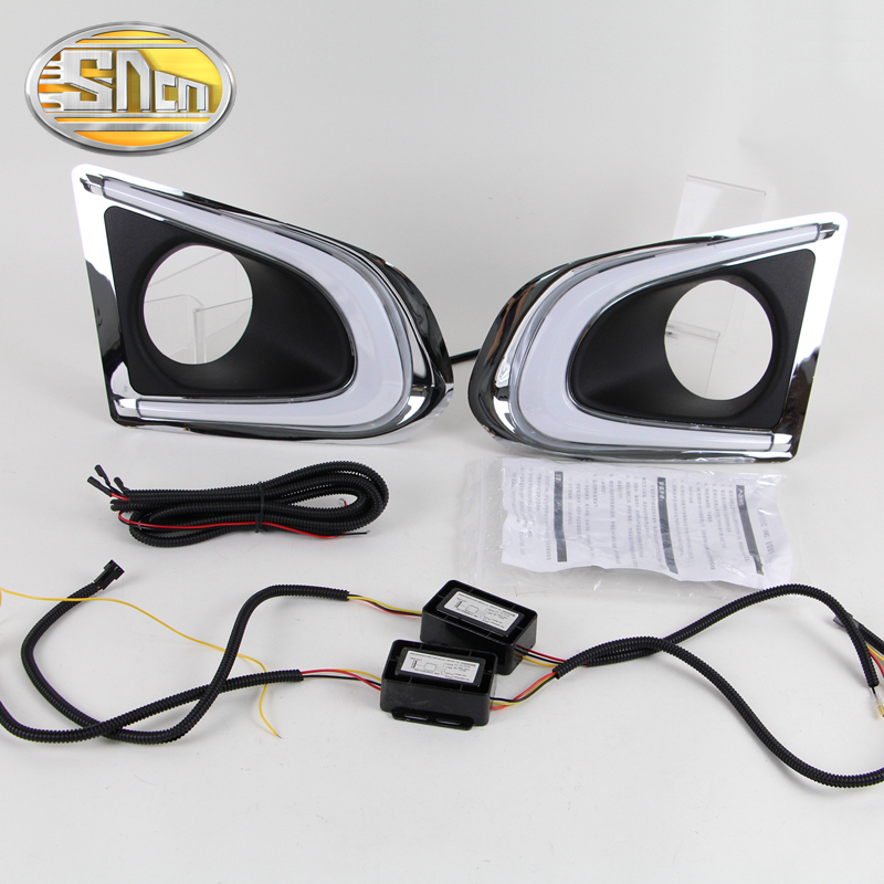 For Chevrolet Trax 2014 2015 2016,Yellow Signal Relay Waterproof Car DRL 12V LED Daytime Running Light With Fog Lamp Hole SNCN кукла марита в голубом плач 42 см antonio juan munecas