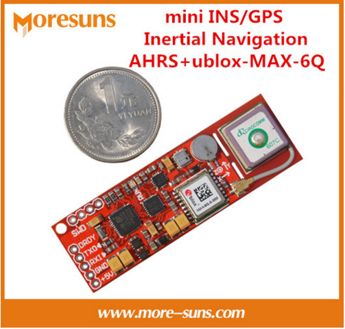 Fast Free Ship 2pcs/lot mini INS/GPS Inertial Navigation AHRS+ublox-MAX-6Q built-in GPS antenna+STM32 master control module