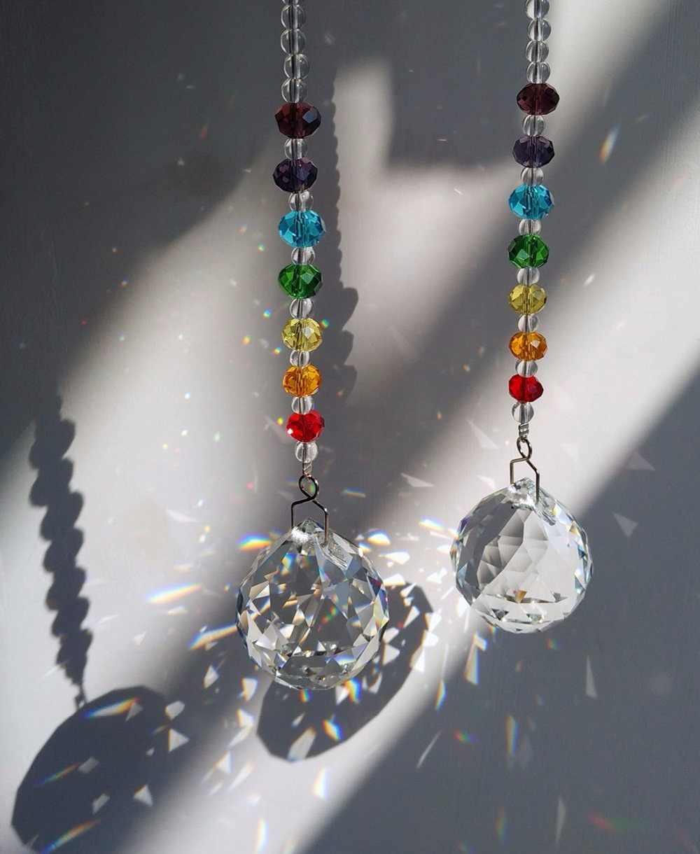 1 шт 30 мм Стекло Многогранный хрустальный шар для люстра висит кулон световой мяч DIY аксессуары