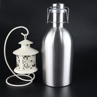 Top Quality Stainless Steel Beer Growler Swing Hip Flask Ultimate Beer Bottle For Bar Accessories 64oz