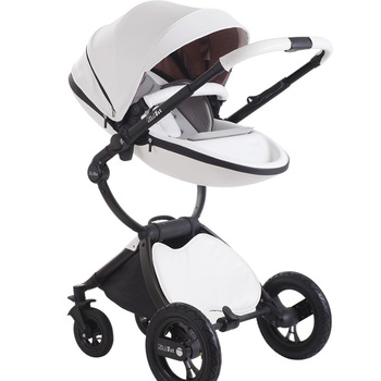 European high Landscape View Stroller Baby cart Four-wheel 2-Hop 1 trolley Two-way baby light Trolley Stroller 2 in 1 free pad