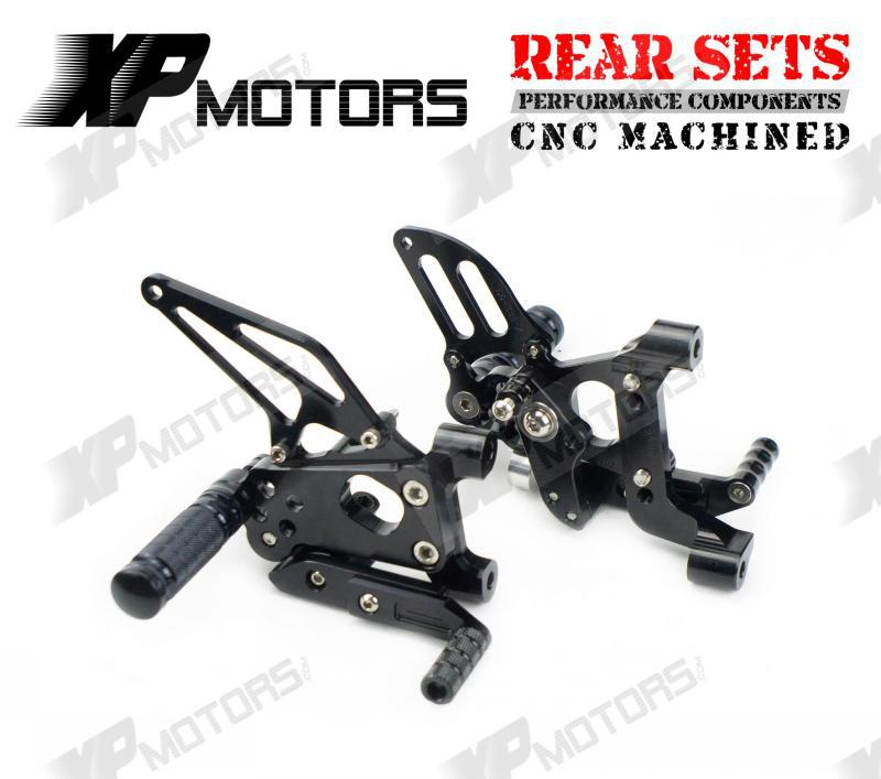 CNC Racing Adjustable Rearset Footrest Rear Sets Foot pegs For Ducati 1199 Panigale S 2012 2013 2014 Black cnc racing rearset adjustable rear sets foot pegs fit for yamaha yzf r3 r25 2014 2015 black