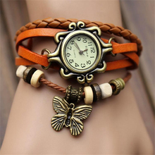 2017 NEW Fashion bracelets Table Female butterfly bracelet watch quartz watches sports watches for girl watches 55 watches fashion watches