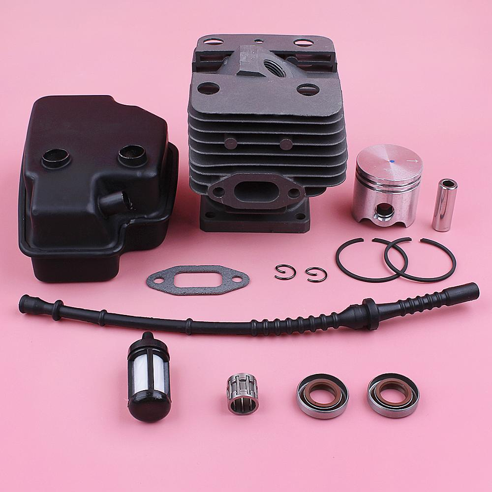 Kit de Piston de cylindre de 35mm pour Stihl FS120 FS200 FS250 silencieux d'échappement ligne de filtre à carburant joint d'huile pièce de rechange de tondeuse