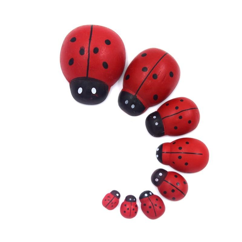 1-1//4-Inch 12-Piece Mini Wooden Ladybug Clothespins