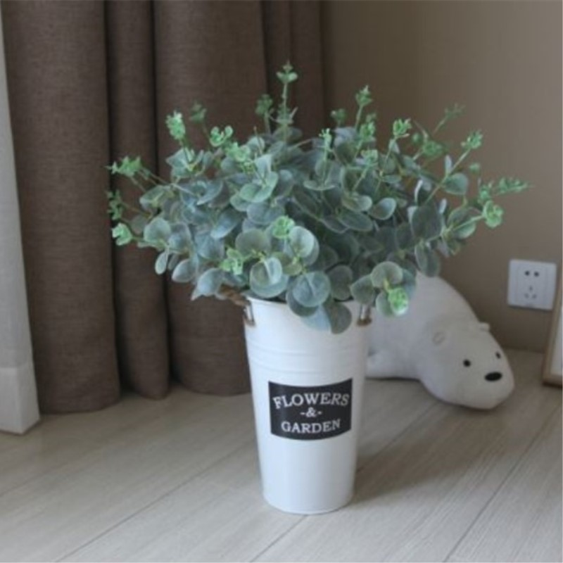 Green Artificial Leaves Large Eucalyptus Leaf Plants Wall Material Decorative Fake Plants For Home Shop Garden Party Decoration