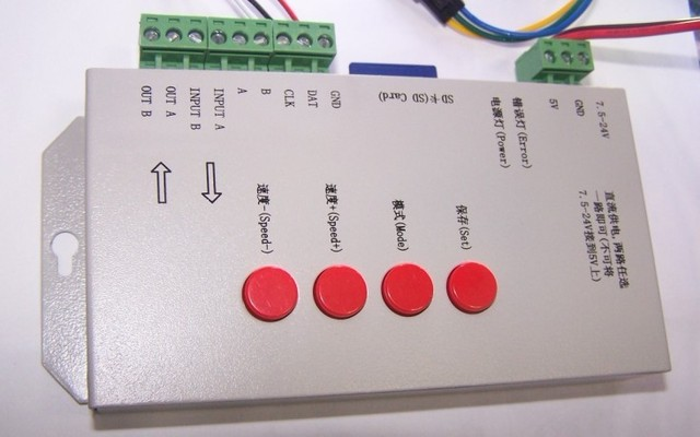 T-1000S SD card led pixel controller, Free Soft for you, 2013 new version