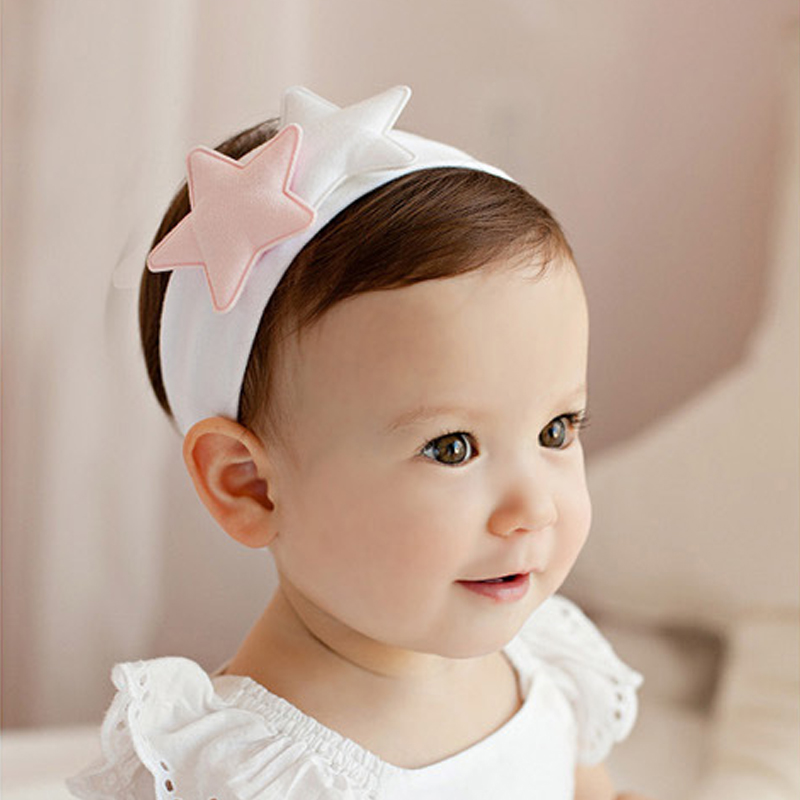 TWDVS Kids Star Cotton Turban Elastic Headband Newborn Ring Wrap Hair Head Cute Kids Hair Accessories  W257 twdvs kids cotton knot hair band newborn elasticity ring hair accessories turban wrap headband bow hair accessories w224