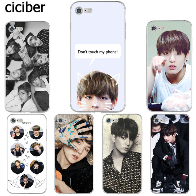 c6f9cf12f18 BTS V Jungkook Kpop Suga Bangtan Boys Korea Phone Cases for iphone 8 6S 6 7  PLUS X 10 5S 5 SE Silicone Soft TPU Capinha Coque
