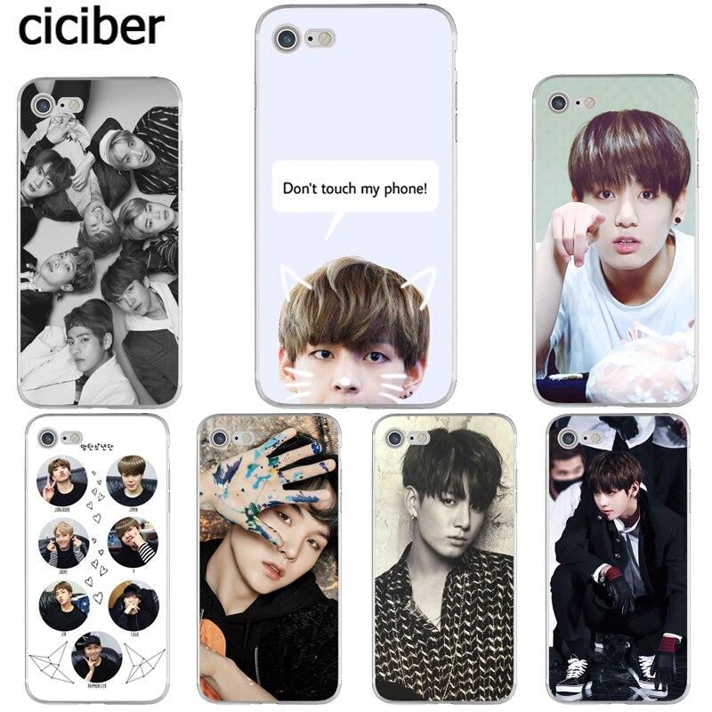 BTS V Jungkook Kpop Suga Bangtan Boys Korea Phone Cases for iphone 8 6S 6 7 PLUS X 10 5S 5 SE Silicone Soft TPU Capinha Coque