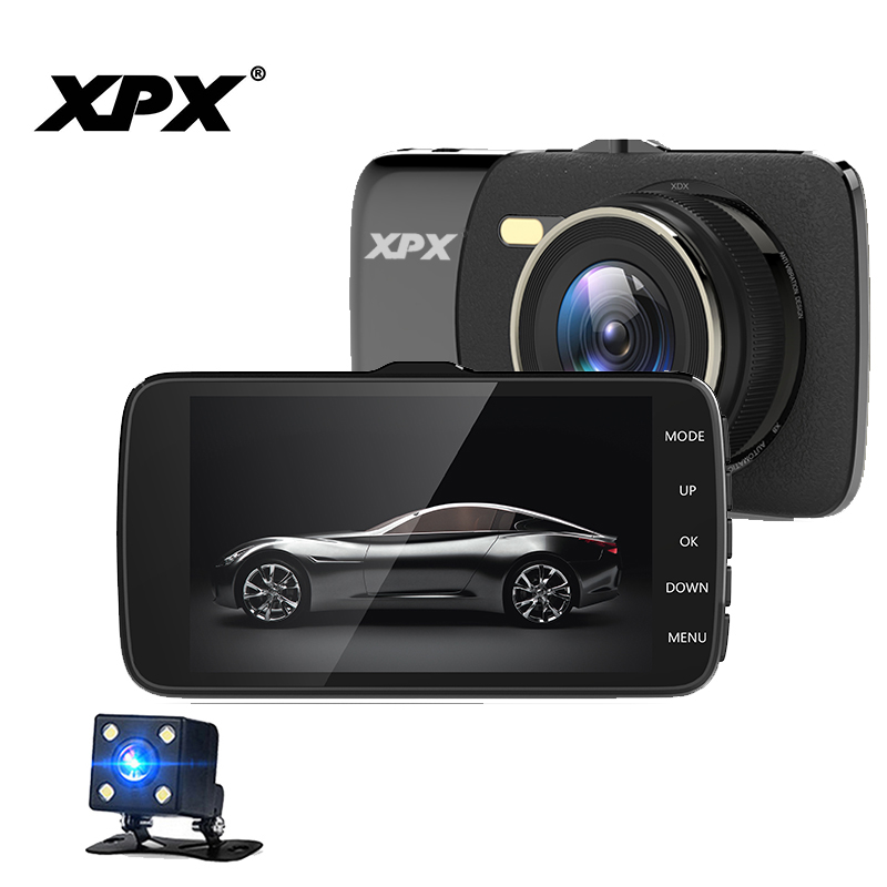 Dash cam XPX P8 Car dvr Rear view camera Full HD 4 inch sceen Wide angle Parking monitor DVR Dashcam Video recorder
