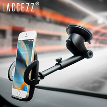 !ACCEZZ Car Holder Adjustable Auto Stand For iPhone XS Universal Phone 360 Degree Rotation Air Glass Center Control GPS Support