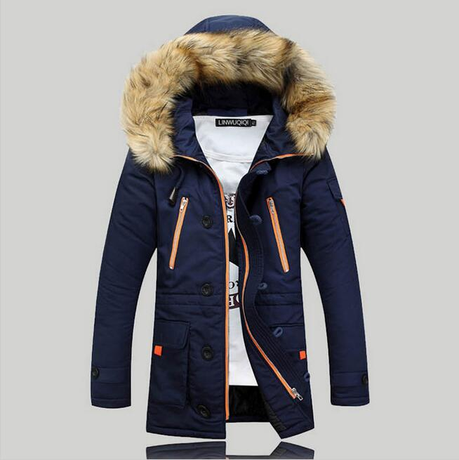 High Quality Jackets Men 2016 New Winter Mens Parka Clothing Thicking Men Jacket Coat With Fur Hood  plus size Vestidos hot sale hot sale winter jacket men fashion cotton coat warm parka homme men s causal outwear hoodies clothing mens jackets and coats