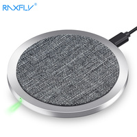 RAXFLY Qi Wireless Charger For Samsung S9 S9plus S8 Fast Wireless Charging For IPhone X 8