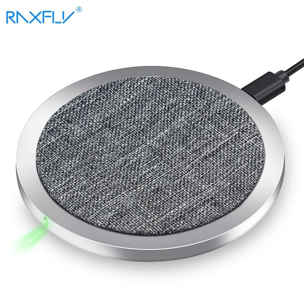 Raxfly QI Беспроводной Зарядное устройство для Samsung S9 S9plus S8 быстро Беспроводной зарядки для iPhone X 8 8 плюс Портативный Беспроводной зарядного уст...