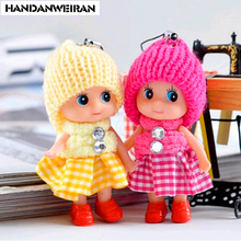 2piece/lots 8cm Baby toys Baby dolls Interactive soft pendant Toys for girls Creative small gifts mini toy