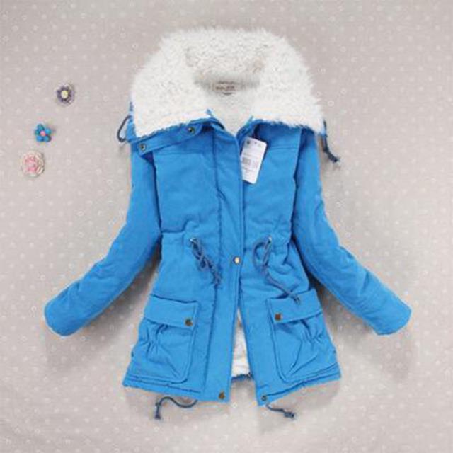 Novo 2016 Casaco de Inverno Mulheres de Slim Plus Size Outwear Médio-Longo Wadded Jaqueta Grossa Amassado de Algodão Com Capuz de Algodão Quente Parkas