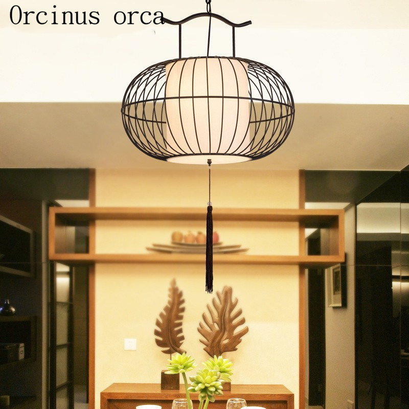 The new Chinese style birdcage lamp creative personality Chinese style restaurantThe new Chinese style birdcage lamp creative personality Chinese style restaurant