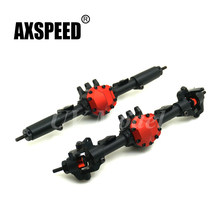 1:10 Rastreador Car Alloy Front & Rear Axle Para Carros RC Axial SCX10 II 90046 90047 Rock Crawler JEEP Atualizado partes(China)