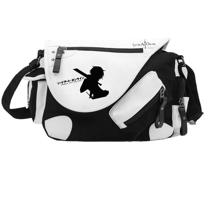 Japan Anime Sword Art Online Game SAO Canvas Casual Zipper Boys Girls Shoulder Bag Crossbody Bags Schoolbags Messenger Bag Gift