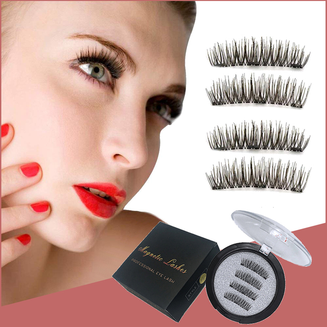 Magnetic Eyelashes With 2/3 Magnets 3D Magnetic False Eyelashes Natural False Eyelashes Magnetic Lashes makeup extension