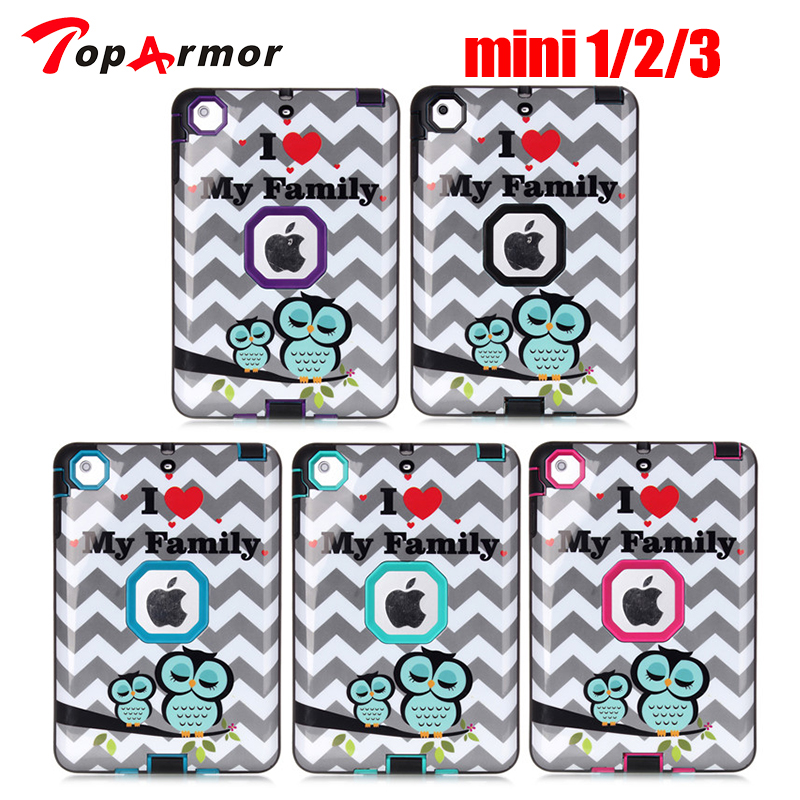 TopArmor Silicone Case for iPad Mini 3 Kids Safe Cover Luxury Shockproof 360 Protective Armor Hard Case for iPad Mini 1/2/3 u20 20 3 silicone case