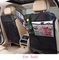 Para audi A1 A3 A4 A5 A6 A8 Q1 Q3 Q5 Q7 à prova d' água assento de carro de volta protetor mat Caso Capa Para Crianças Mat Pontapé Lama Limpo