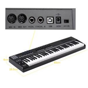 Image 3 - Wereldje Draagbare 61 Key Midi Keyboard Midi Controller 8 Rgb Kleurrijke Backlit Trigger Pads Met Usb Kabel Piano Toetsenbord synthesi