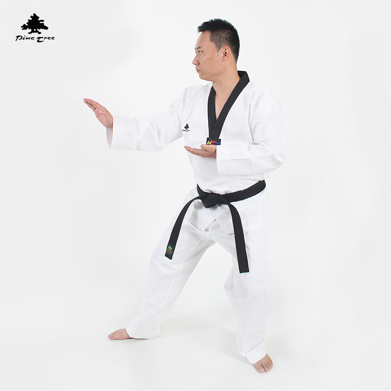 Traditionele witte Taekwondo pak Uniform kinderen mannen vrouwen - Sportkleding en accessoires