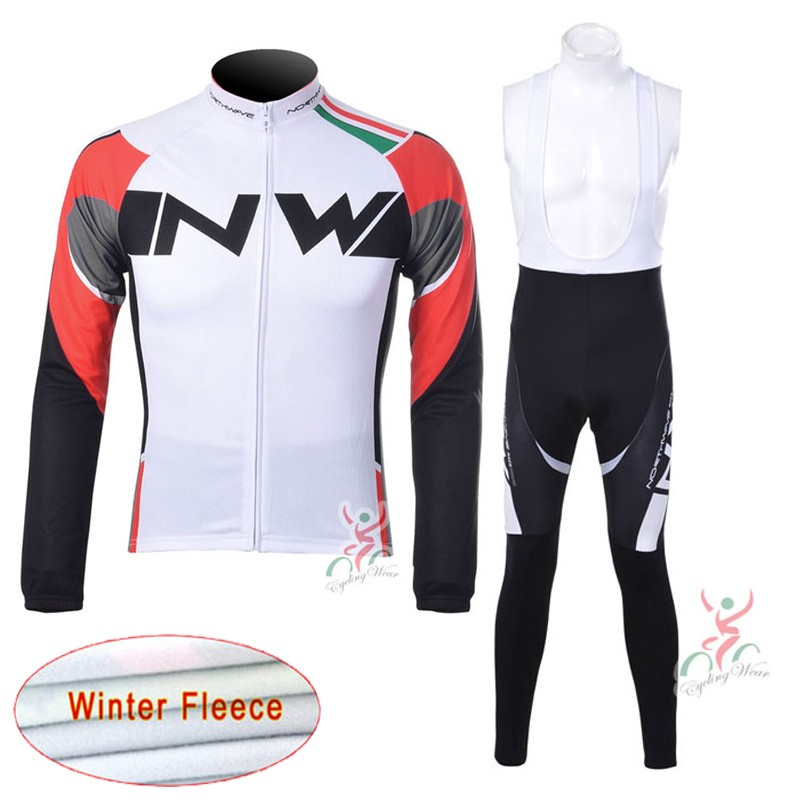 Hiver hommes cyclisme vêtements ensemble complet Zipper à manches longues en plein air vélo Jersey bavoir pantalon costume thermique polaire course vêtements K1901