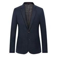 WAEOLSA Elegance Man Slim Fit Blazer Navy Blue Suit Coat Men Smart Casual Blazers Masculino Uniform Tailored Blazer Mens Couture цена