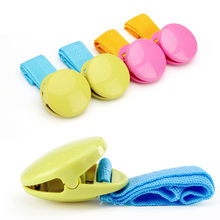 Hot 2pcs/lot Delicate Baby Stroller Accessory Glossy Multicolour Anti Tipi Clip Blanket Clip for Baby Playpen Buggy Accessories(China)
