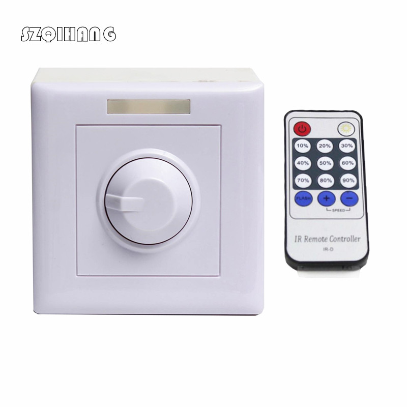 Max 300W Wall Dimmer Switch LED Dimmer With 14 Keys IR Remote Control For Dimmable Light