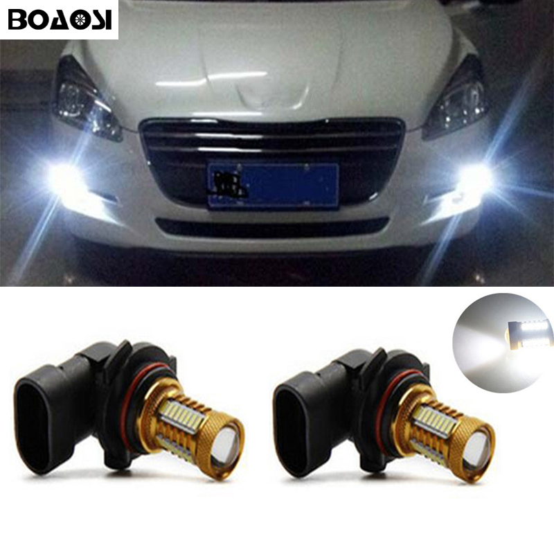 BOAOSI 2x Car Accessories H11 H8 4014SMD LED Fog Light Bulbs For Peugeot 301 2013-2016 Peugeot 3008 2011-2016 Peugeot 407 2008 boaosi 2x high power h11 4014 led fog light bulbs for toyota prius camry 2007 2014 corolla 2011 2014 car accessories