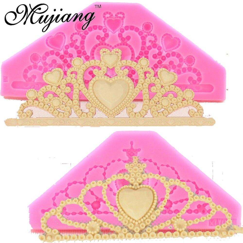 Mujiang Reina Tiara Corona La Torta Del Silicón Moldes Fondant Cake Decorating H