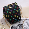 Women brand Chain Shoulder Bag New Fashion Printing Zipper Handbags Girls Small Bag Crossbody bag for Women Vintage Phone Bag