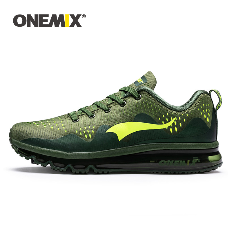 ONEMIX New Men Running Shoes Sports Sneakers Damping Cushion Breathable Outdoor Lace-up Air Trainers Men Walking Tennis Shoes
