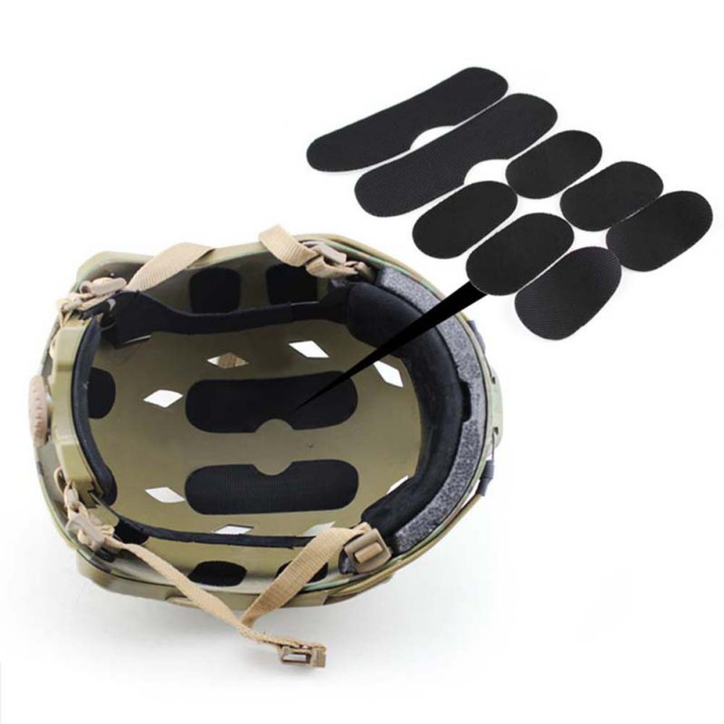 Pottery & Glass Helmet Pads Eva Eco-friendly Quick Dry Protective Cushion Replacement Accessories For Fast Helmets With Hook And Loop Fastener