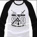 2015 New arrival Men's Women's unisex shirts sword art online spring&autumn long-sleeve shirt