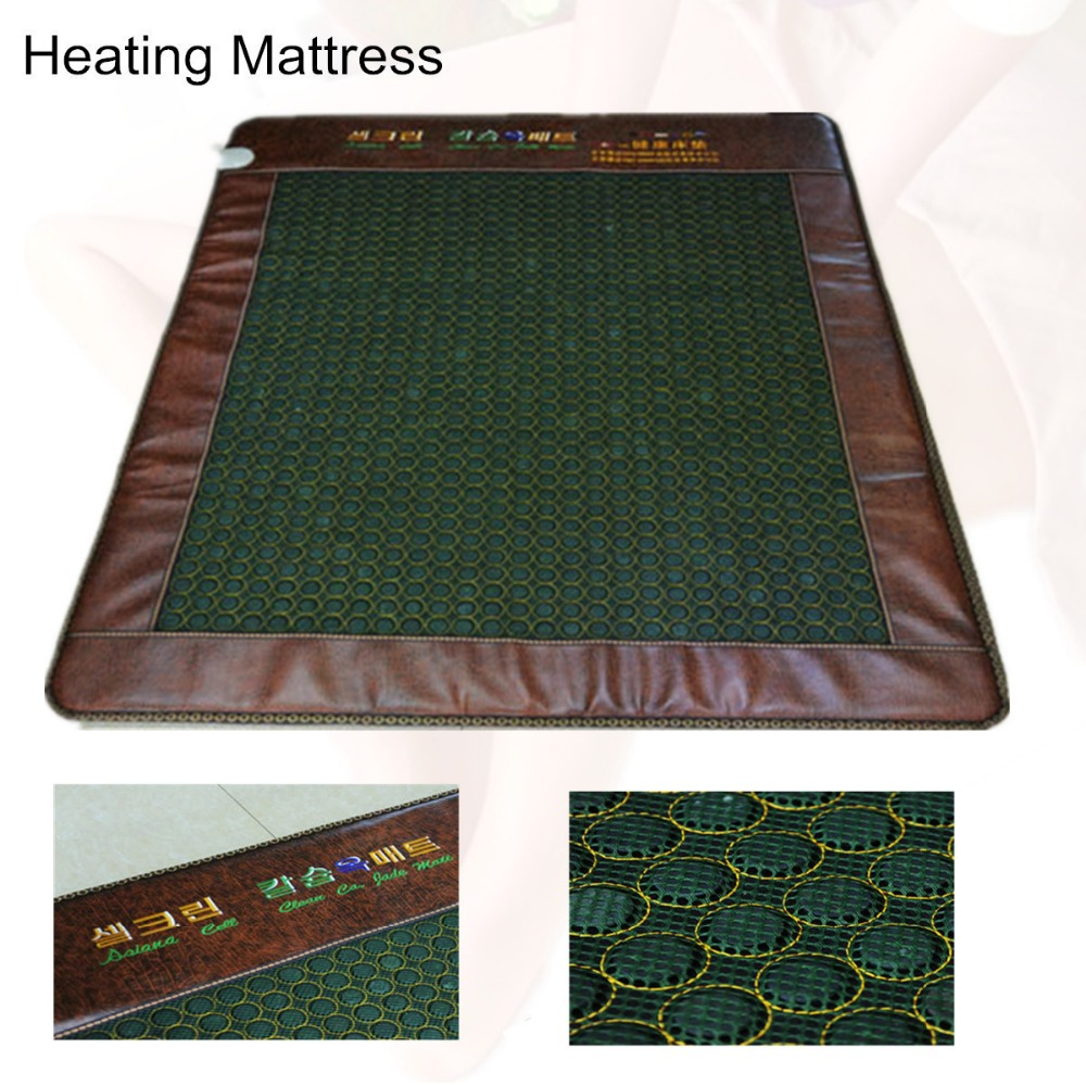 Natural Tourmaline Physical Therapy Heating jade Cushion Natural Tourmaline health care jade Mat Heated Jade Free Gift eye cover health care heating jade cushion natural tourmaline mat physical therapy mat heated jade mattress 45 45cm