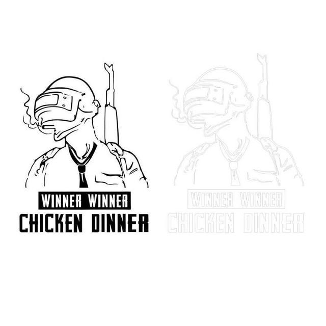 PUBG Winner Winner Chicken Dinner Vinyl Car Sticker