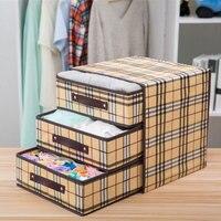 Underwear Storage Box Three Drawer Non woven Socks Clothes Otganizer Storage Box for Socks Home Organizers Accessories